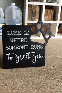 home | dog | sign