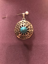Pretty!!!!Silver Turquoise Pendent Gainesville, 20155