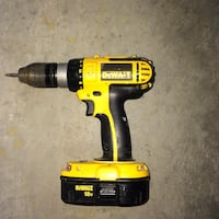 yellow and black DeWalt cordless power drill Lake Country, V4V 2T3