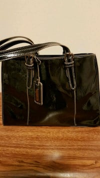 black and brown leather tote bag Vaughan, L6A 2X5