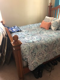 Queen bed frame with mattress  San Diego, 92120