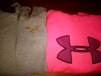 Two ladies hoodies. Sizes s/m Pink Under Armor Fulton, 13069