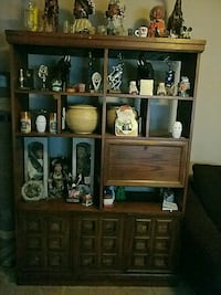 brown wooden cabinet with shelf Perry, 31069
