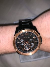 Roman Numeral Michael Kors Rose Gold on Black Los Angeles, 90744