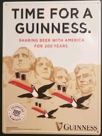 Limited Edition Guinness Metal Bar Signs  Catonsville, 21228