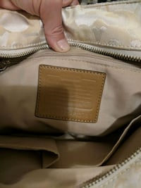 brown and white leather handbag Winnipeg, R3E 0R2