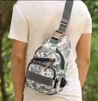 New  Male Versatile Casual Crossbody Small Bag Wild Plaid Chest Should