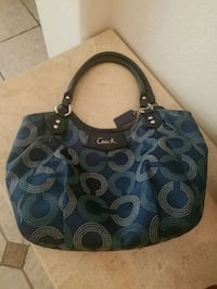 Blue authentic Coach bag with wallet Chandler, 85224