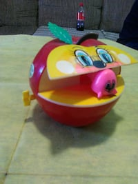 1960s wind up apple n worm bank