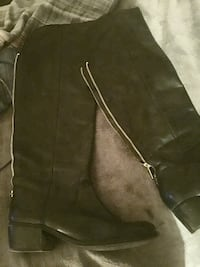 Black leather boots knee length size 9 Alexandria, 22312
