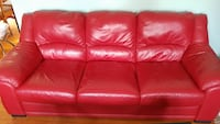 Red leather couch Baltimore, 21231