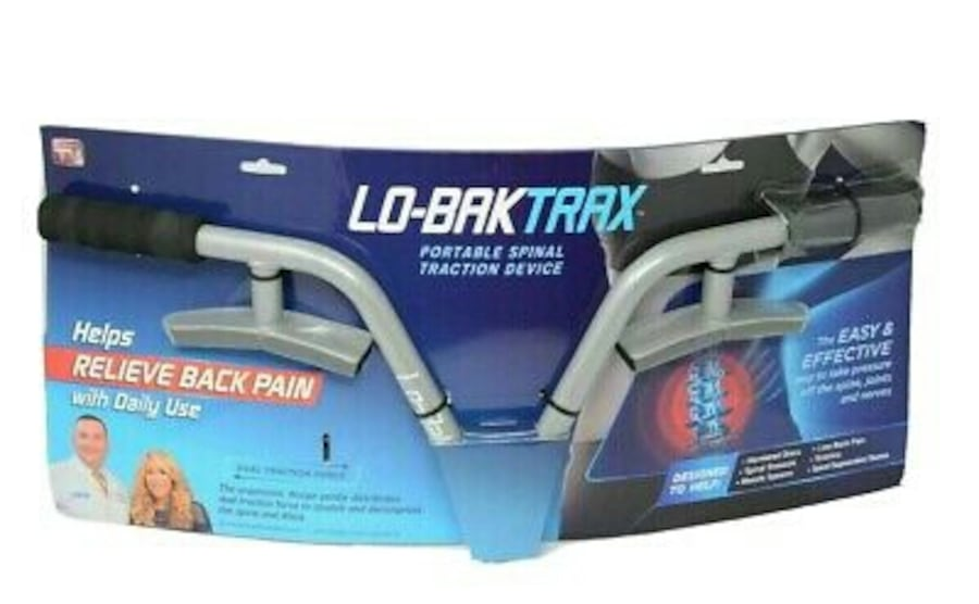NEW Lo-Bak Trax portable Spinal Traction Device & Bonus Stretches DVD 0