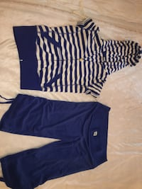 blue and white striped long-sleeved dress Surrey, V3S 4R6