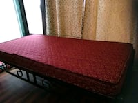 red and white bed with ply and mattress Navi Mumbai, 410210