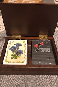 Vintage Austrian double playing card deck with woden box. Ottawa, K2J