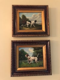 Two brown wooden framed painting of dogs Lafayette, 70508