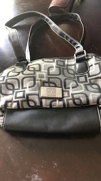 Black and gray leather tote bag Bloomingdale, 60108