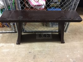 Dark solid wood table or TV Stand