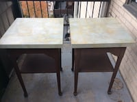 Two brown wooden side tables,25$ each Toronto, M2R 2A3