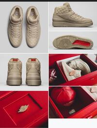 quilted beige Nike high-top sneakers with box photo collage Fort Lauderdale, 33309