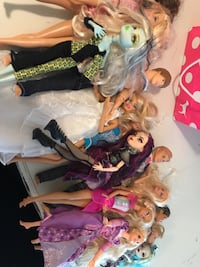 17 Barbies and some clothes accessories included   Oakville, L6M 4B3