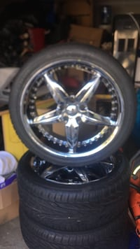chrome multi spokes auto wheel with tire Chantilly, 20152