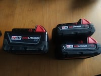 Milwaukee M18 Batteries (Negotiable) Calgary