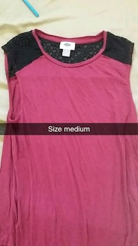 women's pink and black scoop-neck shirt Prince George, V2M 3P7