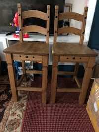 Solid Wood Bar Stools/high chair from Pier Imports get 2 for $50