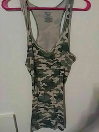 women's green, black, and brown woodland camouflage tank top Amarillo, 79107