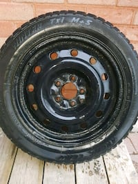 205/55/16 winter tire on rim Pickering, L1V 6T9