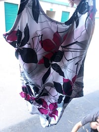 white, purple, and green floral spaghetti strap dress Roseville, 95678