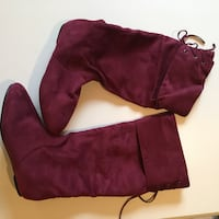 SIZE: 10. Burgundy suede boots Winchester, 22602