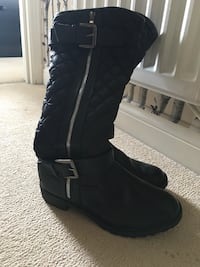 Pair of black leather \side-zip buckle riding boots Nuneaton, CV10 9HG