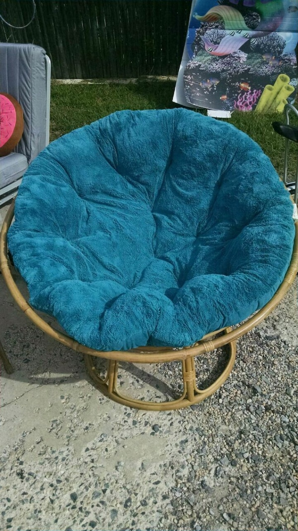Super Blue Papasan W Cushion Onthecornerstone Fun Painted Chair Ideas Images Onthecornerstoneorg