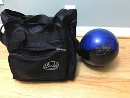 15 lb Bowling Ball and Bag