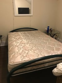 Double bed frame (green) and mattress Brockville