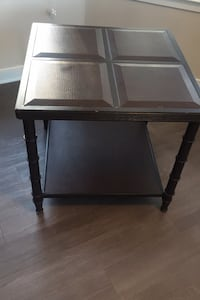 Bernhardt Leather and Metal Side Table Laurel, 20723