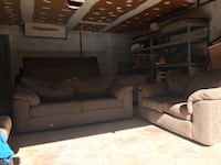 Big Comfy Couch & Love Seat! Pull Out Queen Bed- Minor Tears Silver Spring, 20906