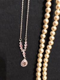 Jewelry Combo Set - Pearls and Pink Crystals! Chantilly, 20152