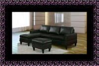 Black sectional with ottoman Landover Hills, 20784