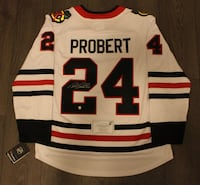 Bob Probert Signed Chicago Blackhawks Jersey COA Vaughan, L4L 0G7