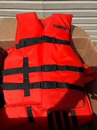 4 Red and black life vests Tiara Brand Fairfield, 06825