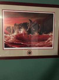 """""""Comes the Tide framed picture. 26""""x32"""" Normandy, 37360"""