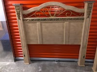 Brown wooden headboard and footboard West Palm Beach, 33407