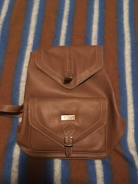 Brown leather backpack  Kitchener, N2R 1T9