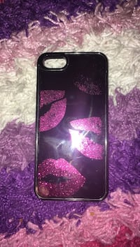 Glitter iPhone 5 case glitter moving lip case black and pink  Lansing, 48910