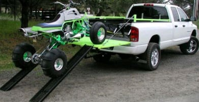 This replaces a dodge tailgate to haul 2 atvs in pickup.