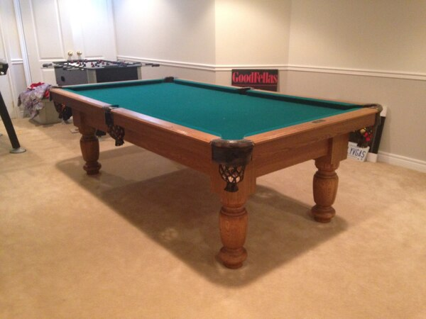 Used Dufferin Pool Table Plus All Accessories Solid Wood With Slate - Dufferin pool table