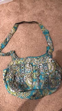 Vera Bradley blue and green cross the chest bag 358 mi